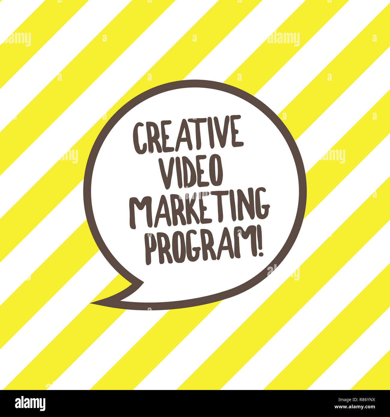 Conceptual hand writing showing Creative Video Marketing