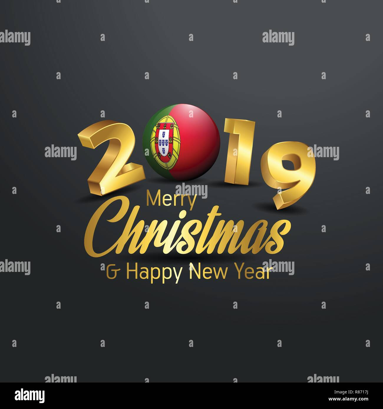 Christmas In Portugal 2019.Portugal Flag 2019 Merry Christmas Typography New Year