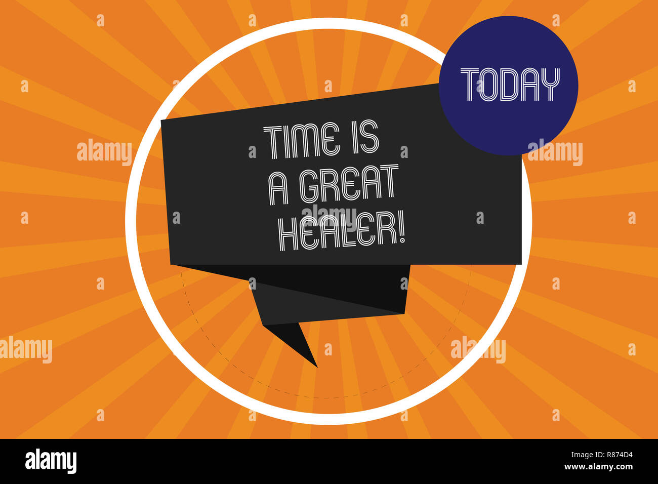 Word writing text Time Is A Great Healer  Business concept