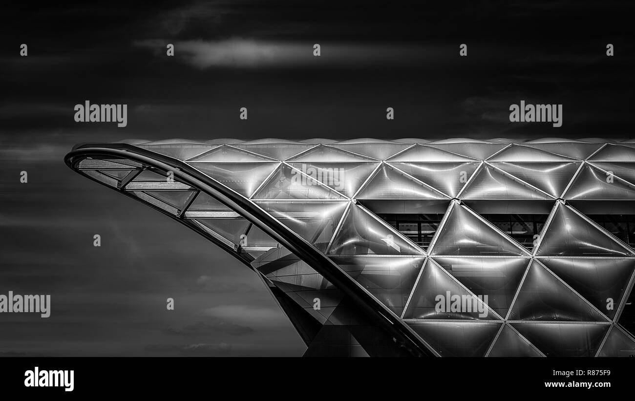 The new rooftop to London Crossrail - Stock Image