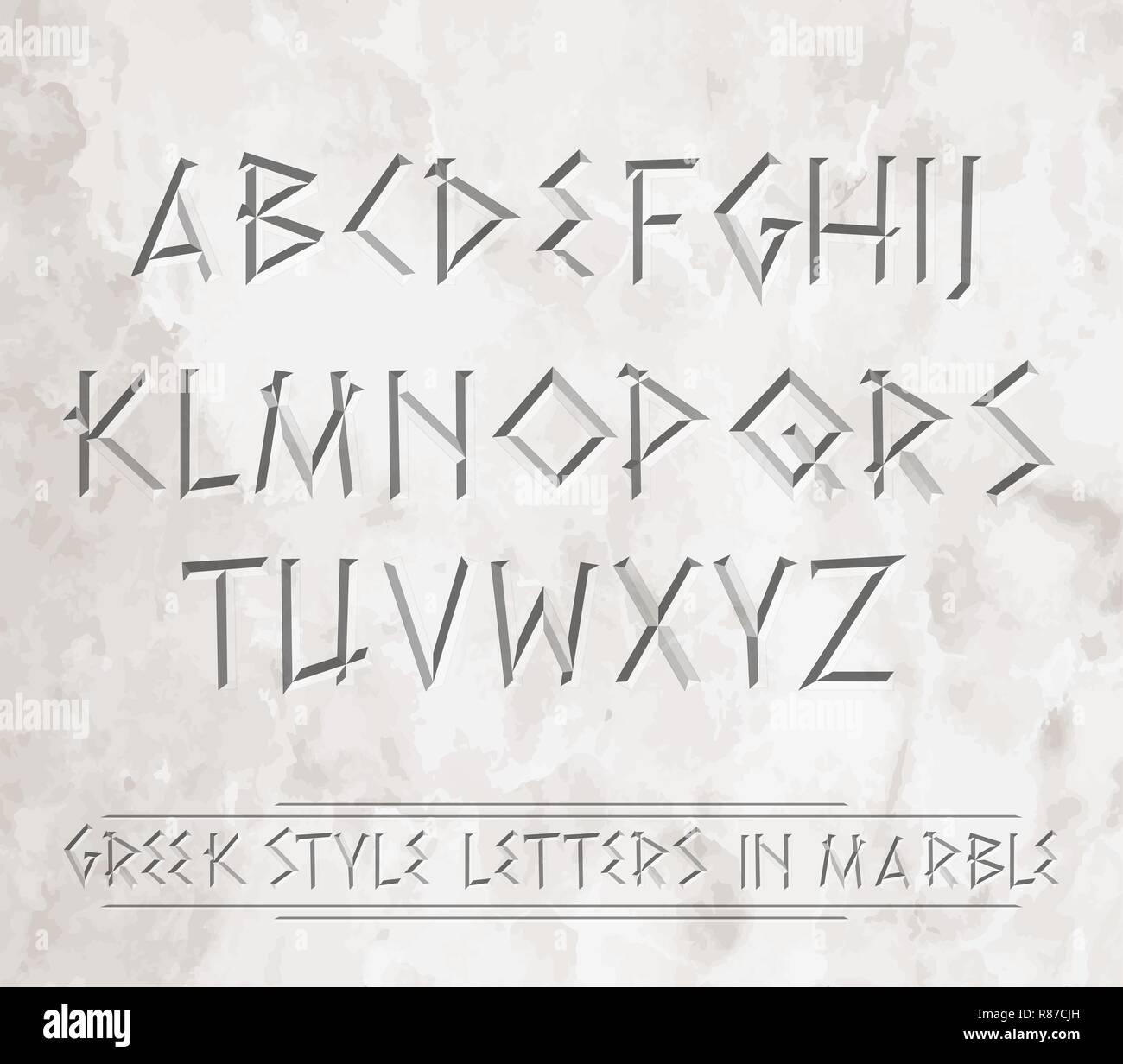 Greek Alphabet Vector Stock Photos & Greek Alphabet Vector Stock