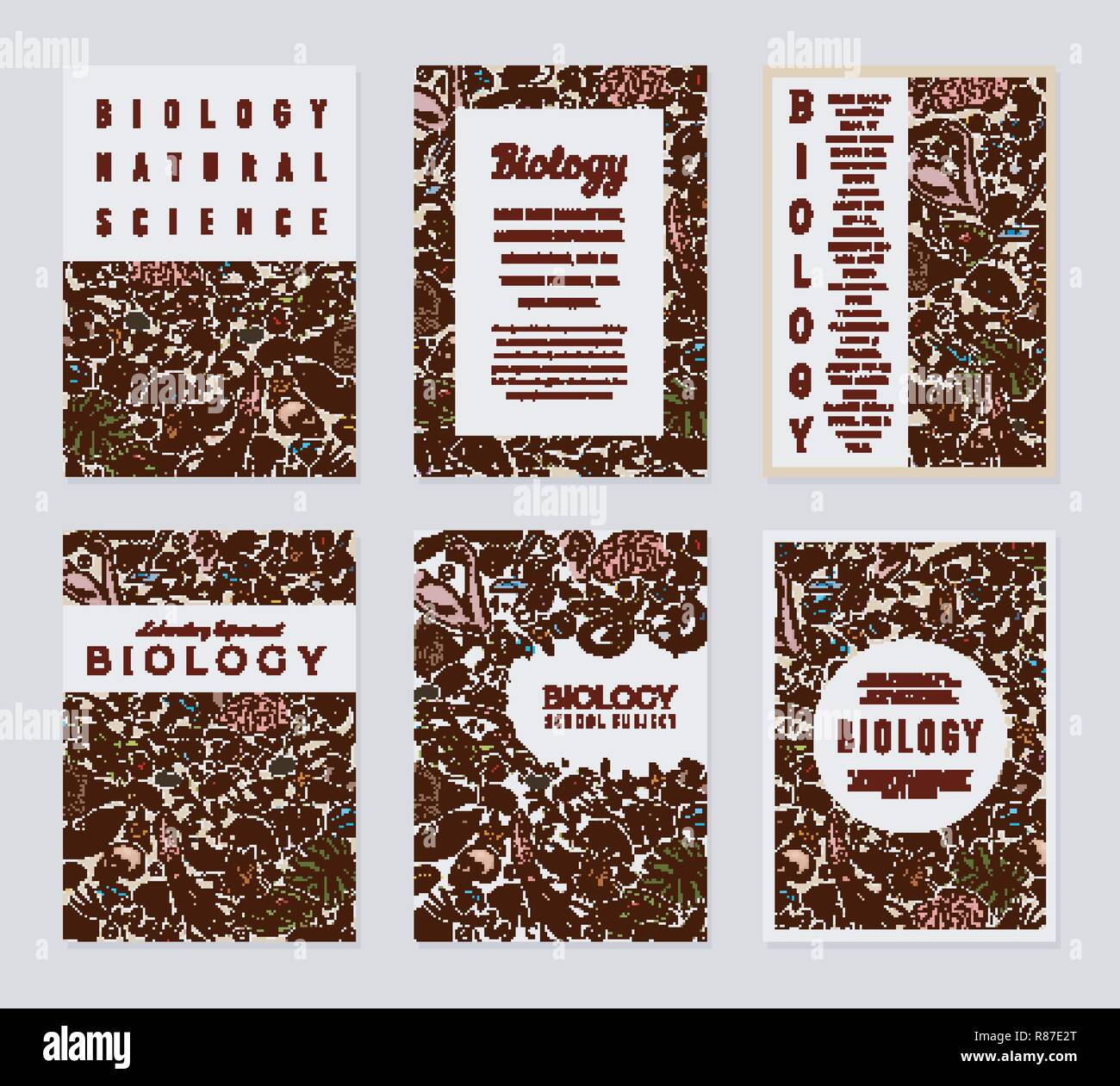 biology cards science templates and banners poster for book print