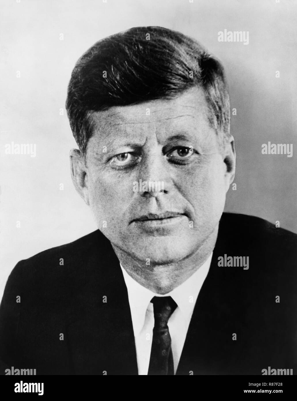 John Fitzgerald Kennedy (1917-63), 35th U.S. President, Head and Shoulders Portrait, 1961 - Stock Image