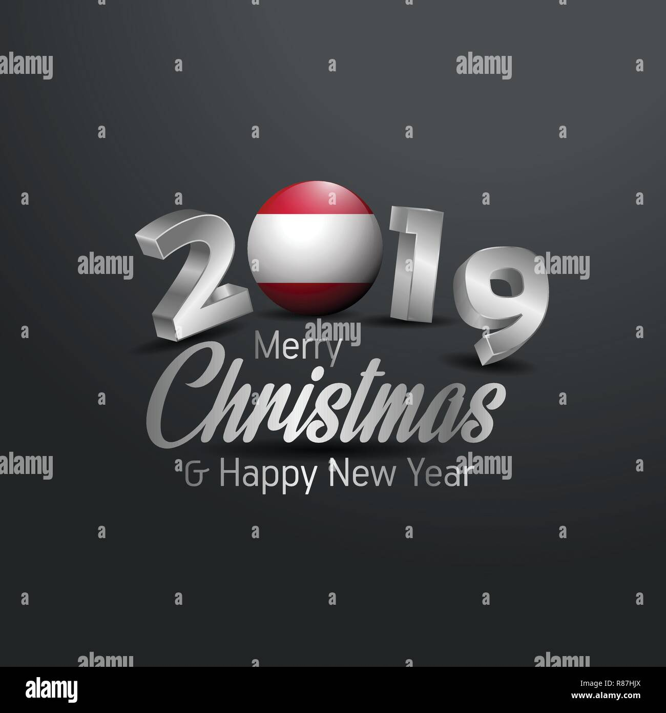 Christmas In Austria 2019.Austria Flag 2019 Merry Christmas Typography New Year