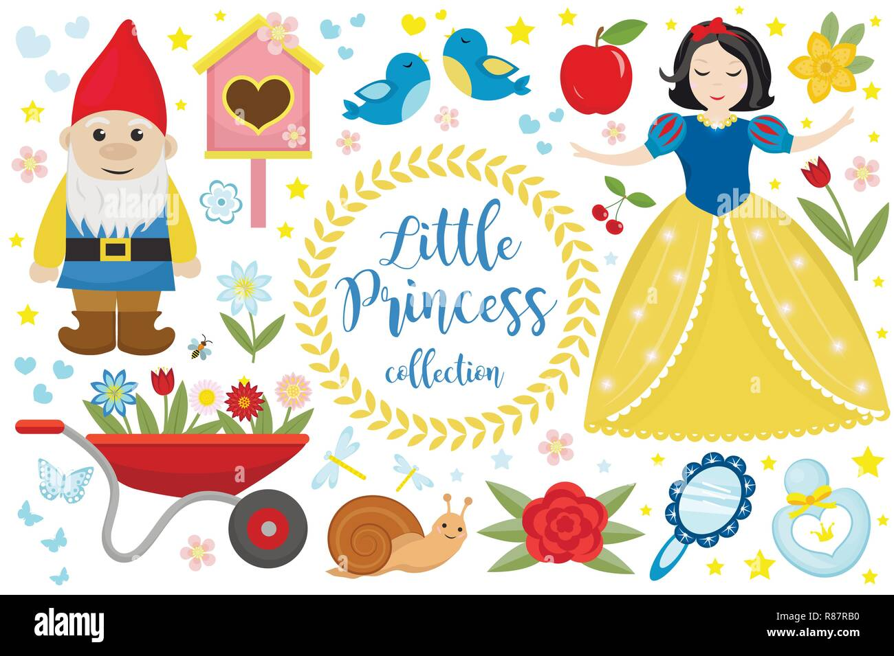 Snow White Illustration Story Stock Photos & Snow White Illustration