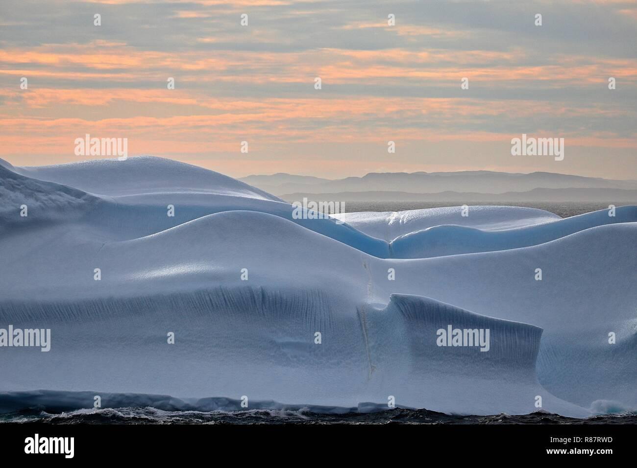 Grönland Disko Bucht: Ein Eisberg wie gemalt. - Stock Image