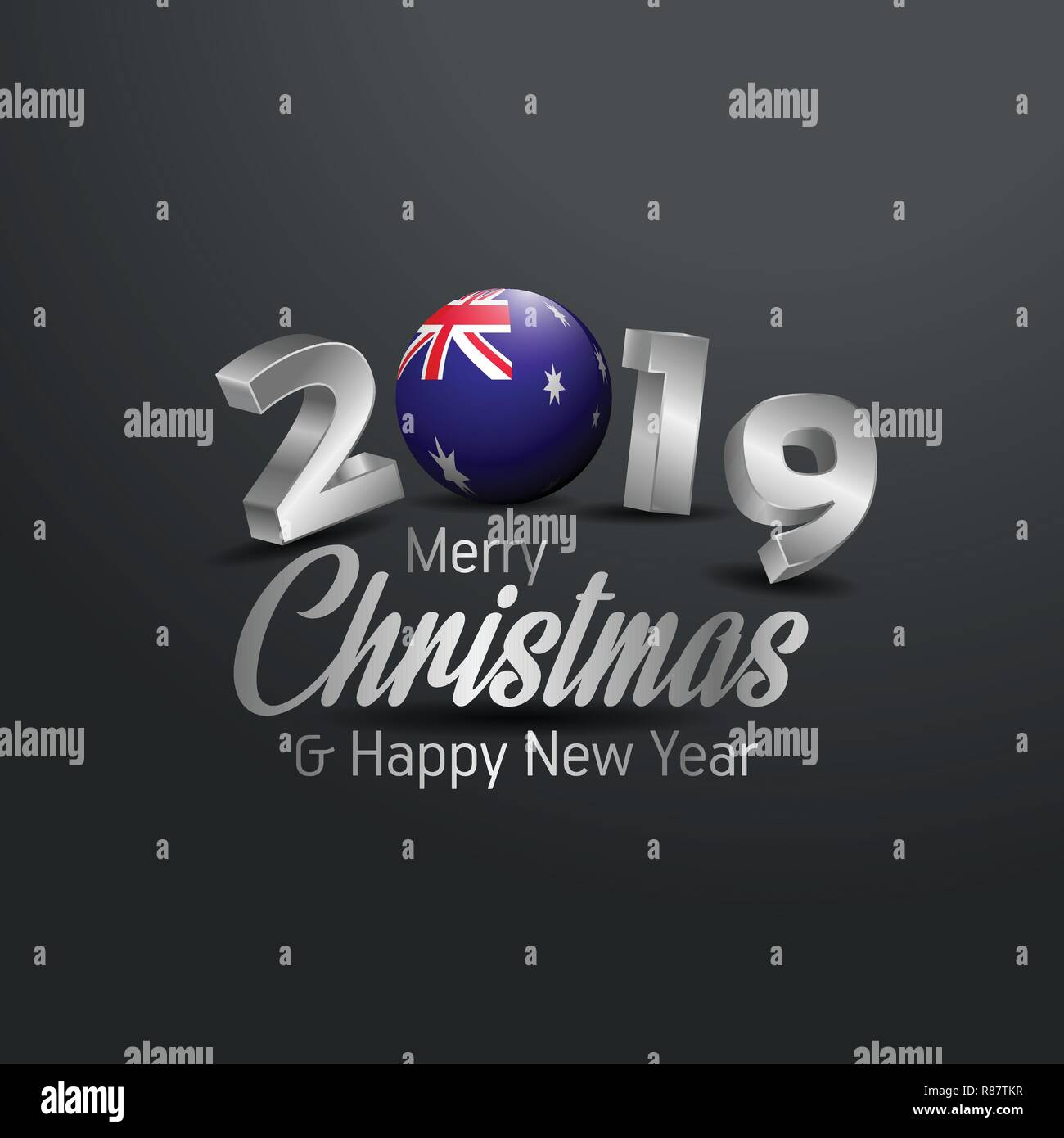 Christmas In Australia Background.Australia Flag 2019 Merry Christmas Typography New Year