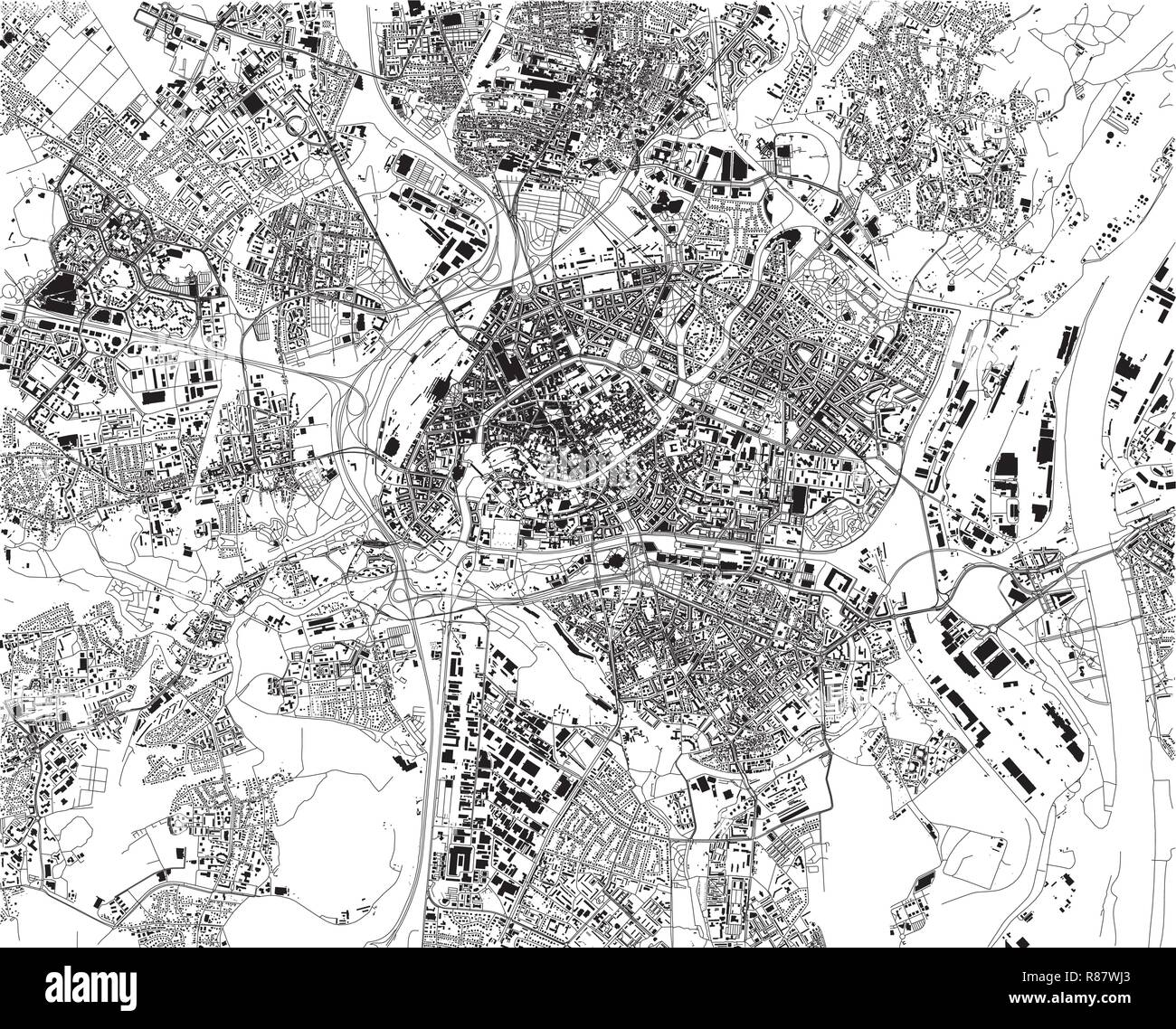 Map Strasbourg Stock Vector Images - Alamy