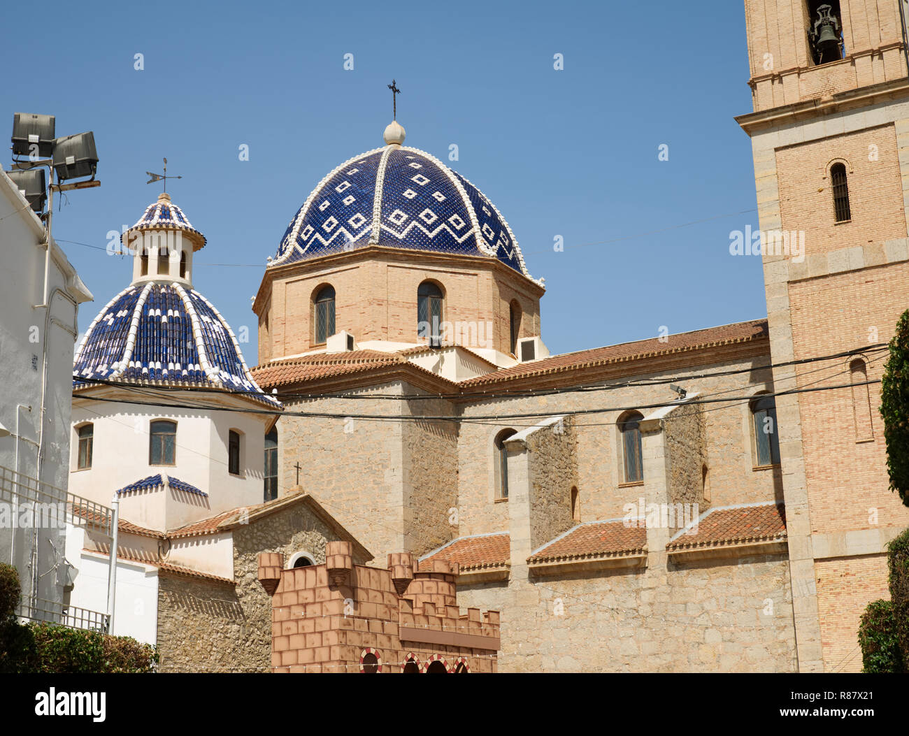 The Church of La Mare de Déu del Consol ('Our Lady of Solace'), Altea, Province of Alicante, Spain. - Stock Image