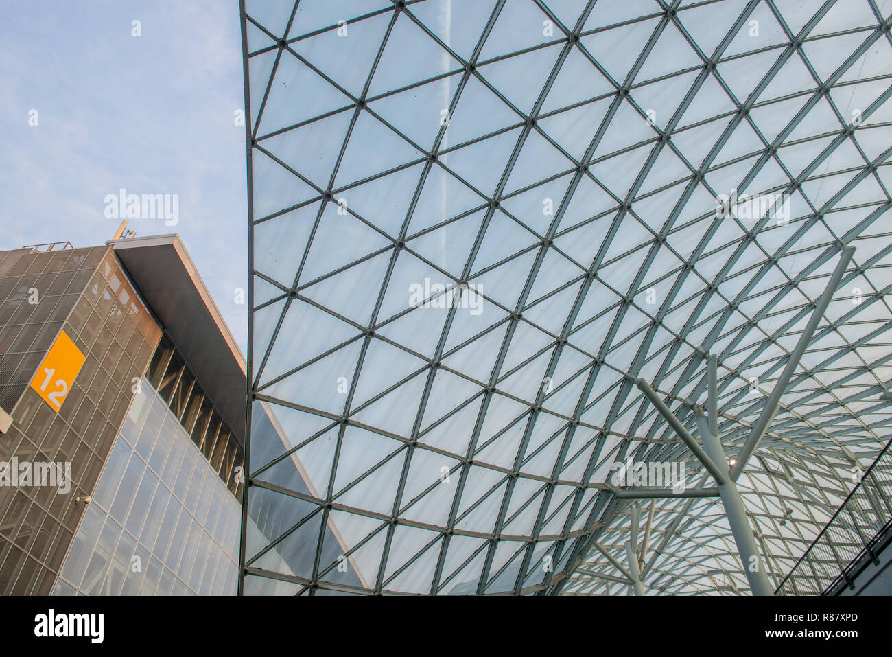 Rho Milano Italy 2 December 2018: Fiera Milano Rho entrance. Fiera Milano Rho is an important international trade fair and conference on visual commun - Stock Image