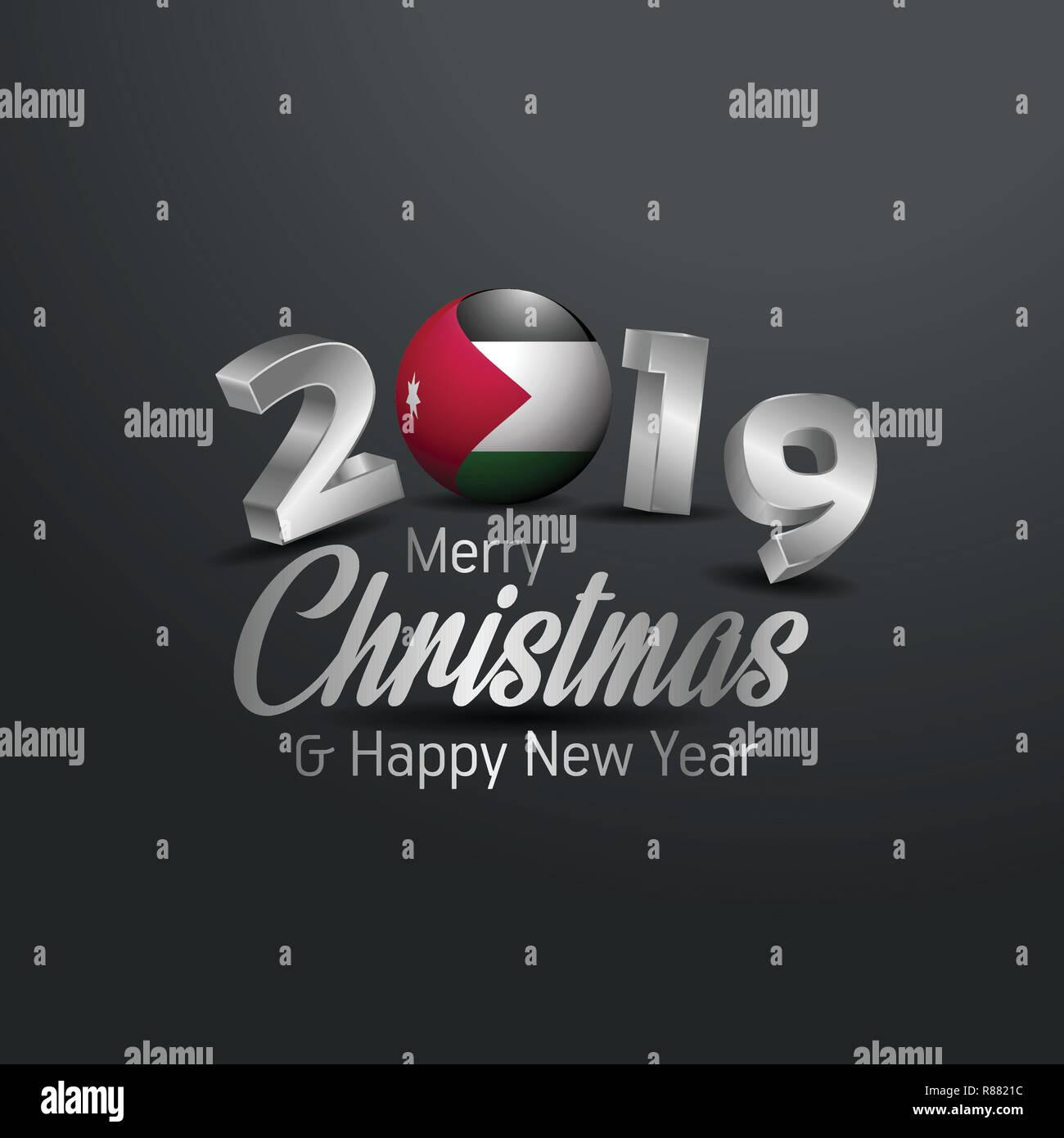 Jordans Christmas 2019.Jordan Flag 2019 Merry Christmas Typography New Year