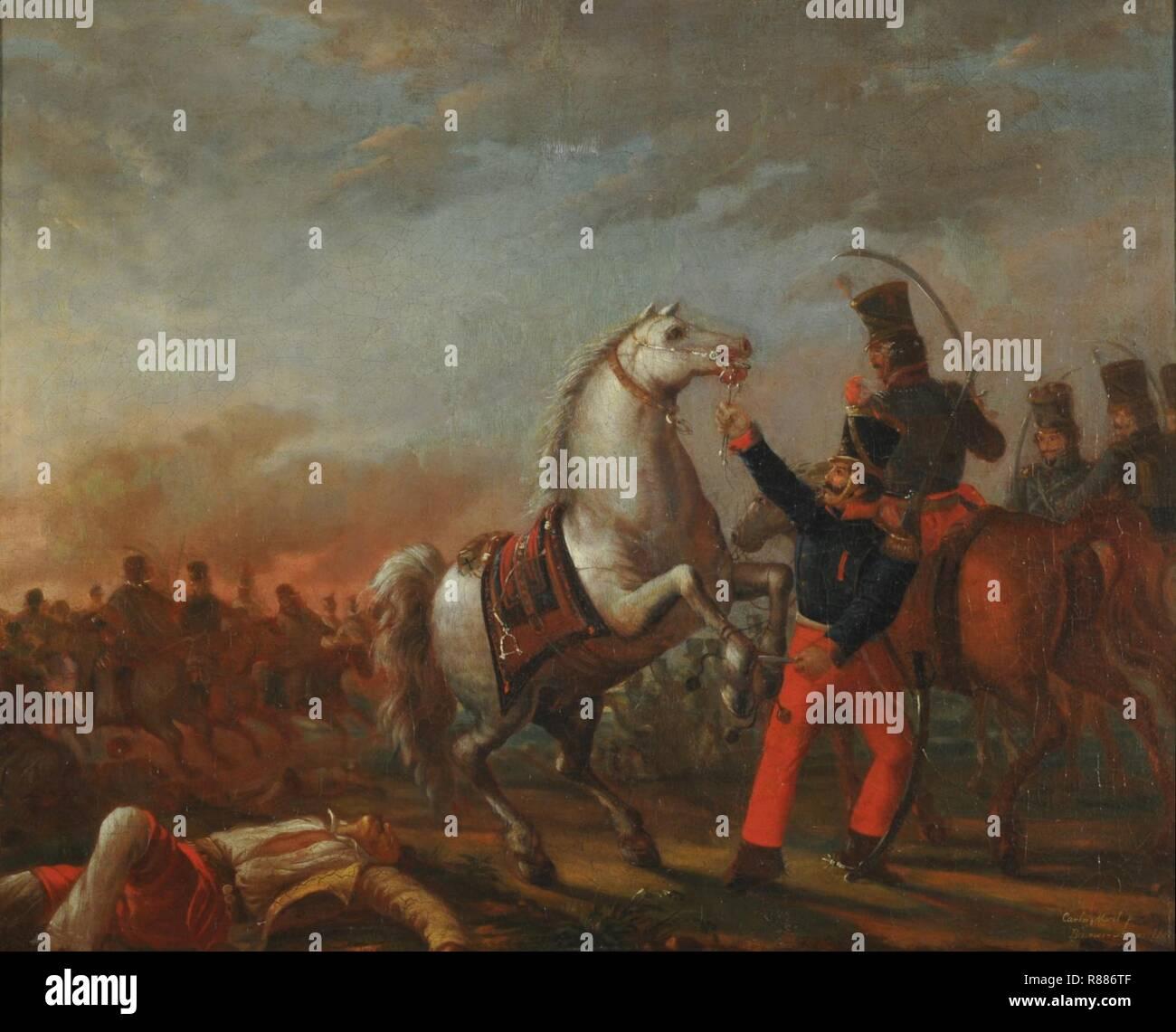 Carga de caballería - Carlos Morel. - Stock Image