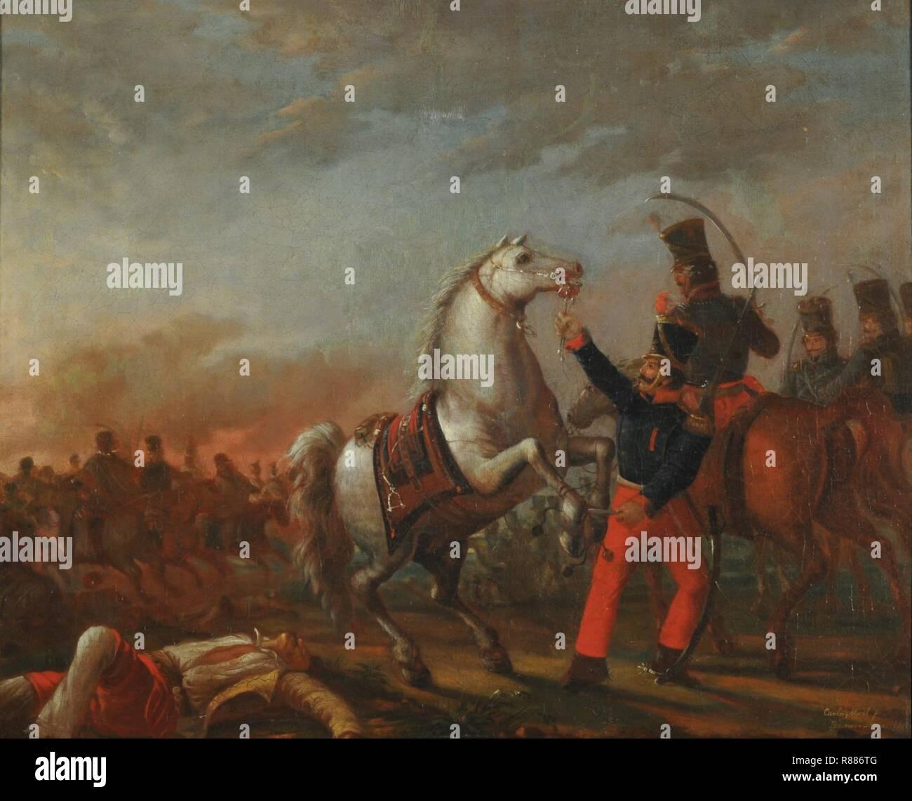 Carga de caballería.mnba. - Stock Image