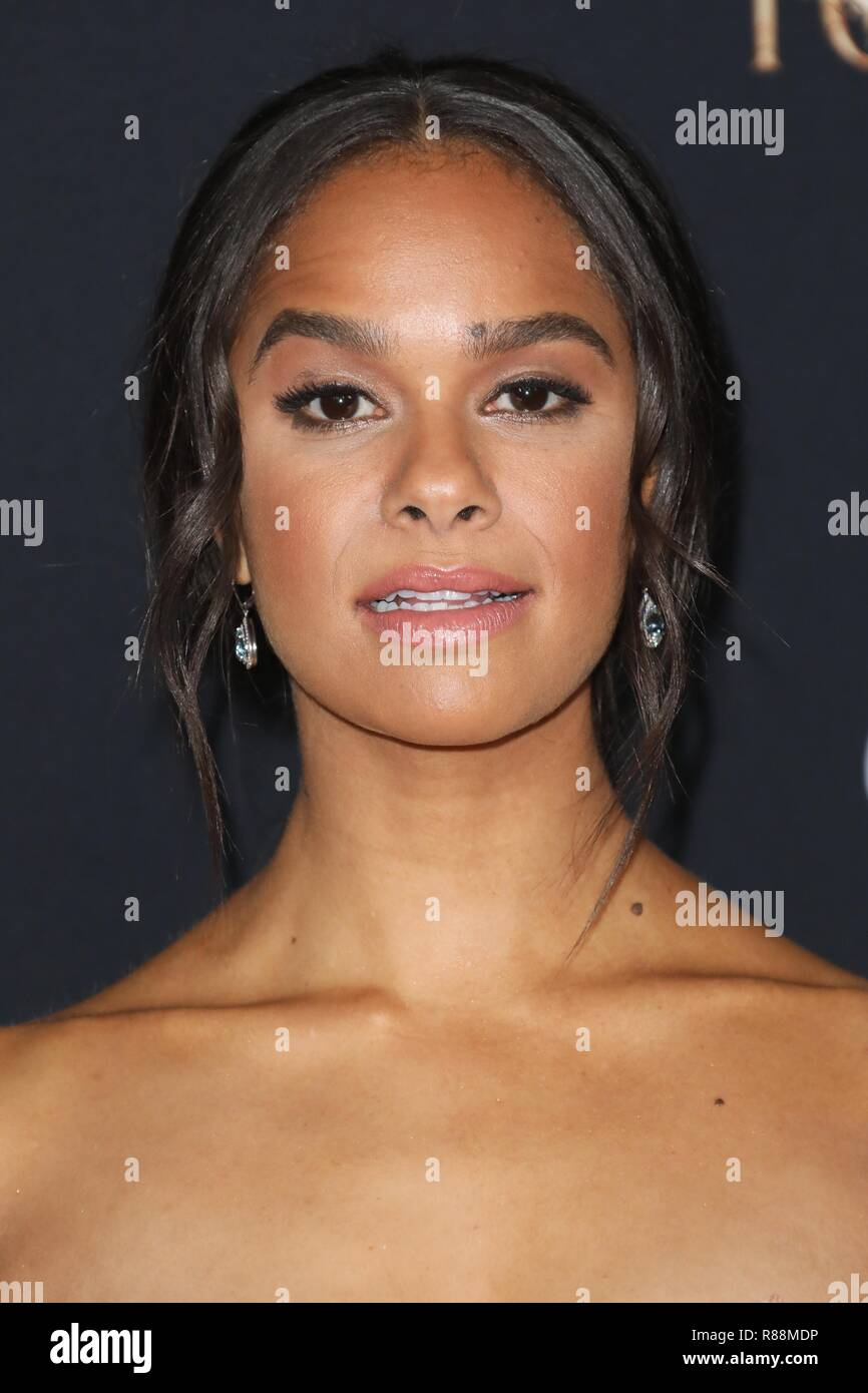 HOLLYWOOD, LOS ANGELES, CA, USA - OCTOBER 29: Misty Copeland at the Los Angeles Premiere Of Disney's 'The Nutcracker And The Four Realms' held at The Ray Dolby Ballroom at Hollywood and Highland Center on October 29, 2018 in Hollywood, Los Angeles, California, United States. (Photo by David Acosta/Image Press Agency) - Stock Image
