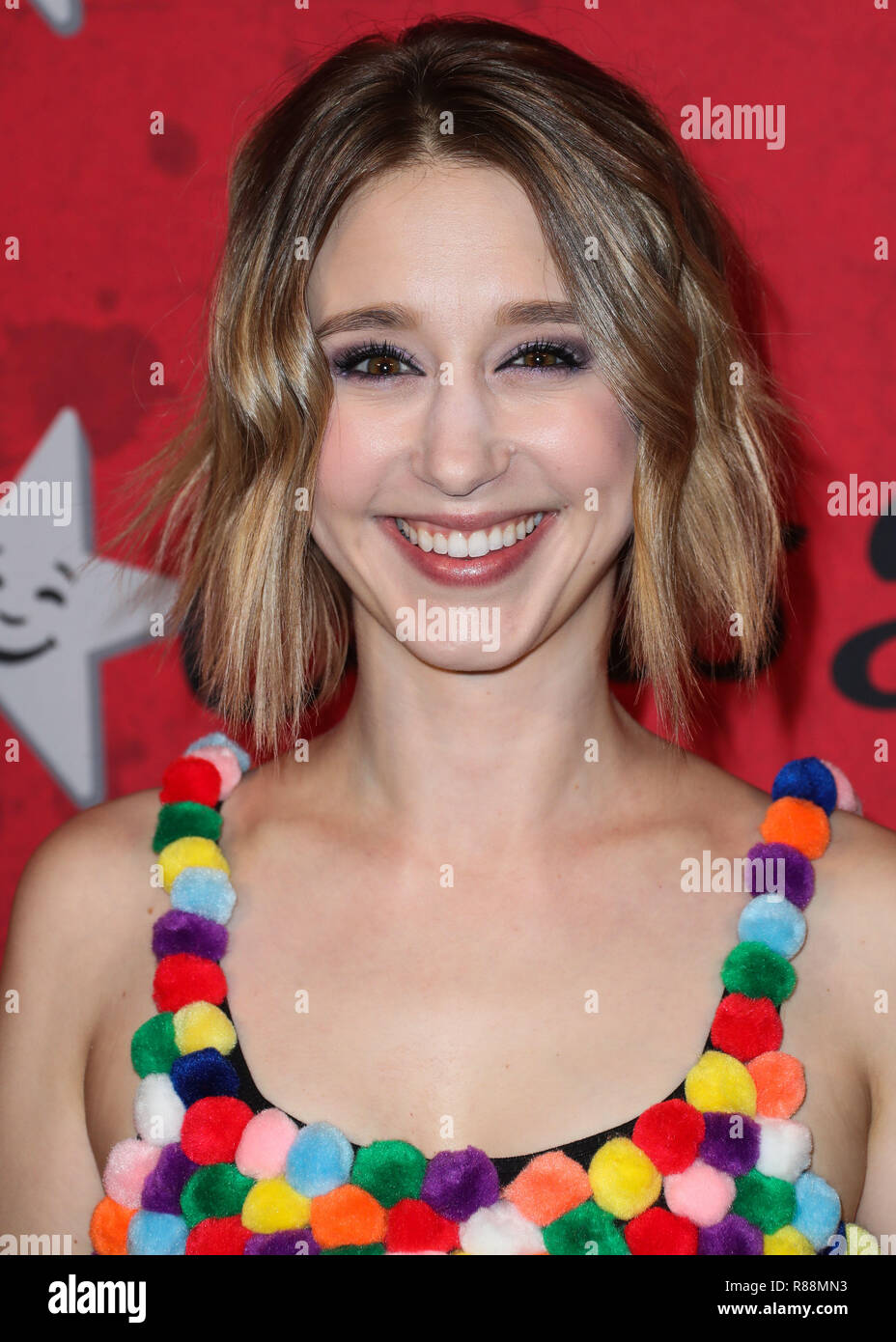 HOLLYWOOD, LOS ANGELES, CA, USA - OCTOBER 27: Taissa Farmiga at Just Jared's 7th Annual Halloween Party held at Goya Studios on October 27, 2018 in Hollywood, Los Angeles, California, United States. (Photo by Xavier Collin/Image Press Agency) - Stock Image