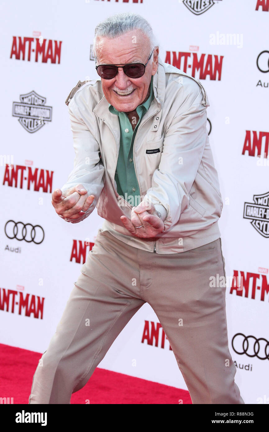 (FILE) Stan Lee Dies At 95. Stan Lee, the legendary writer, editor and publisher of Marvel Comics whose fantabulous but flawed creations made him a real-life superhero to comic book lovers everywhere, has died. He was 95. Lee, who began in the business in 1939 and created or co-created Black Panther, Spider-Man, the X-Men, the Mighty Thor, Iron Man, the Fantastic Four, the Incredible Hulk, Daredevil and Ant-Man, among countless other characters, died early Monday morning at Cedars-Sinai Medical Center in Los Angeles, a family representative told The Hollywood Reporter. HOLLYWOOD, LOS ANGELES,  - Stock Image