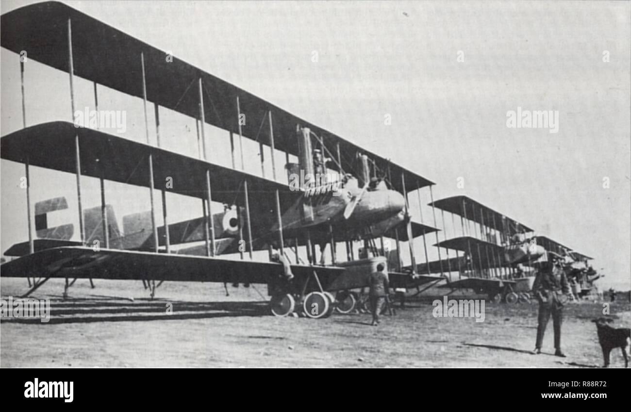 Caproni Ca.42-Royal Naval Air Service. Stock Photo