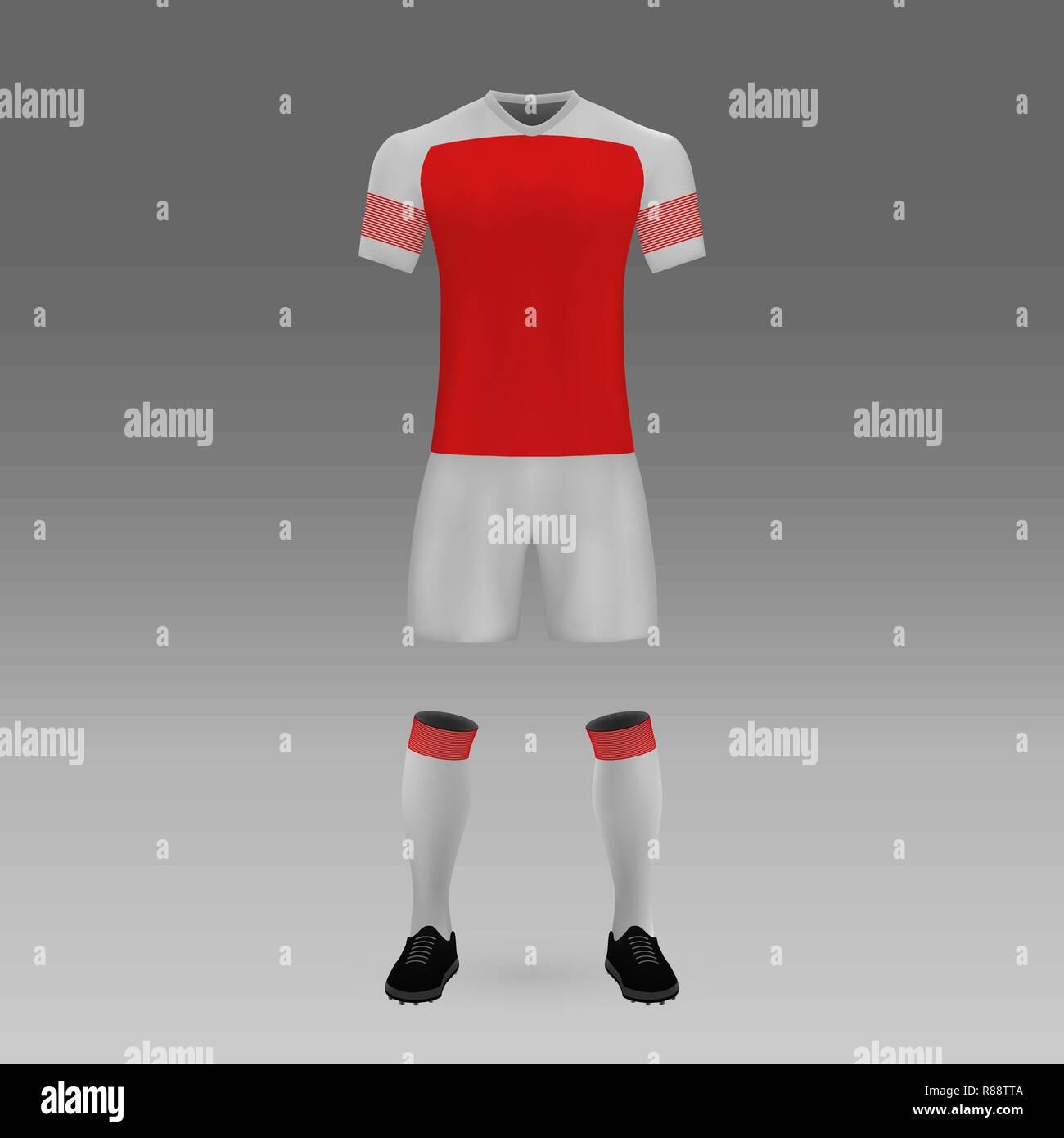 sports shoes 7d45a 418e4 football kit Arsenal, London, shirt template for soccer ...