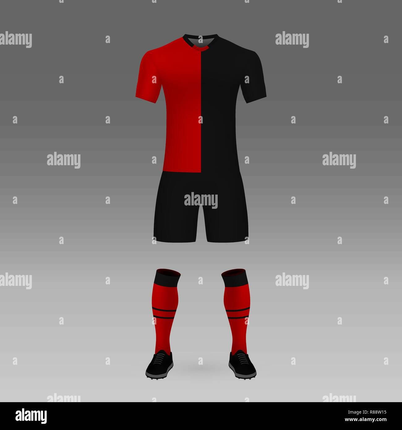 on sale 3e05e b0f0a football kit Newell's Old Boys, shirt template for soccer ...
