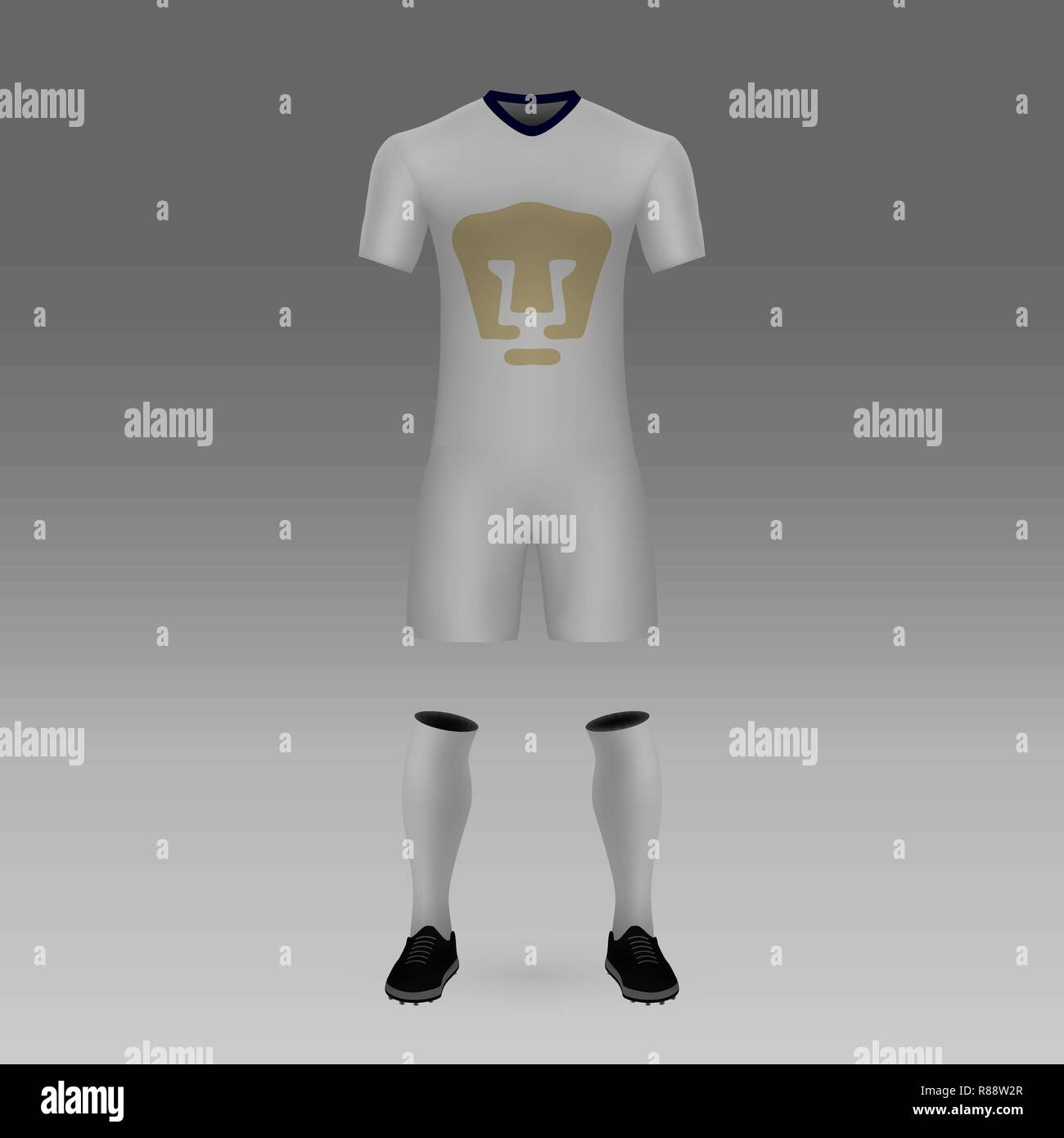 football kit unam pumas shirt template for soccer jersey vector