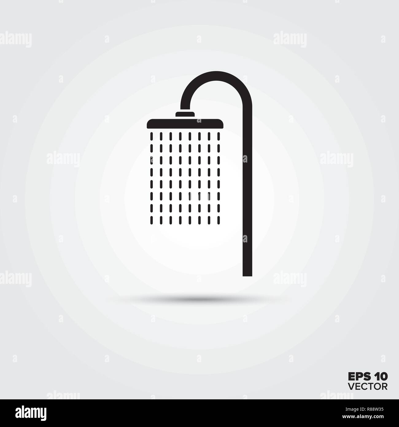 Shower vector glyph icon - Stock Image