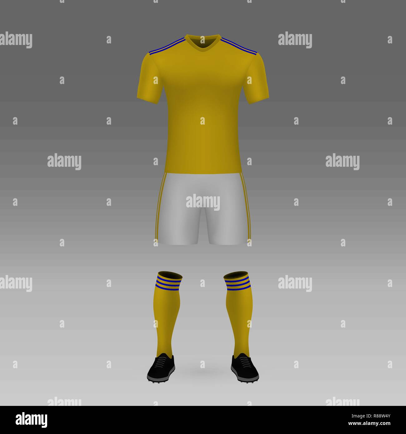 Football Kit UANL Tigres Shirt Template For Soccer Jersey Vector Illustration