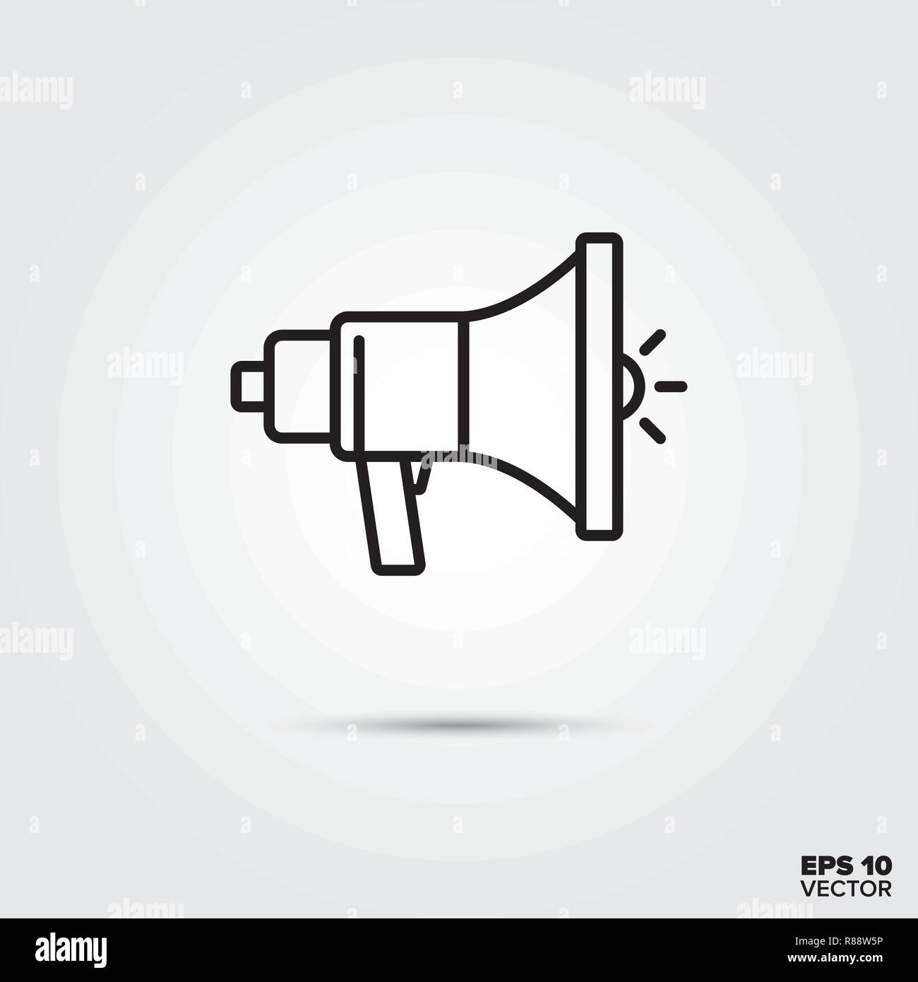 Loudspeaker line icon vector illustration. Media and advertising symbol. - Stock Image