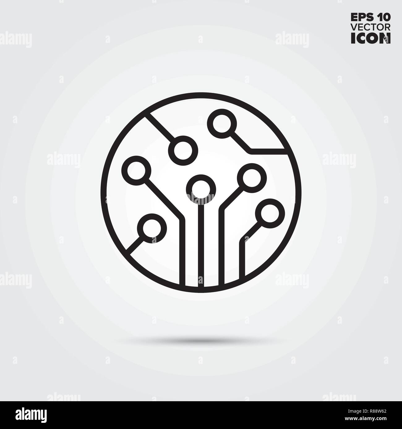 Electronic Circuit Vector Vectors Stock Photos Symbols Commonly Used Line Icon Component Symbol Image