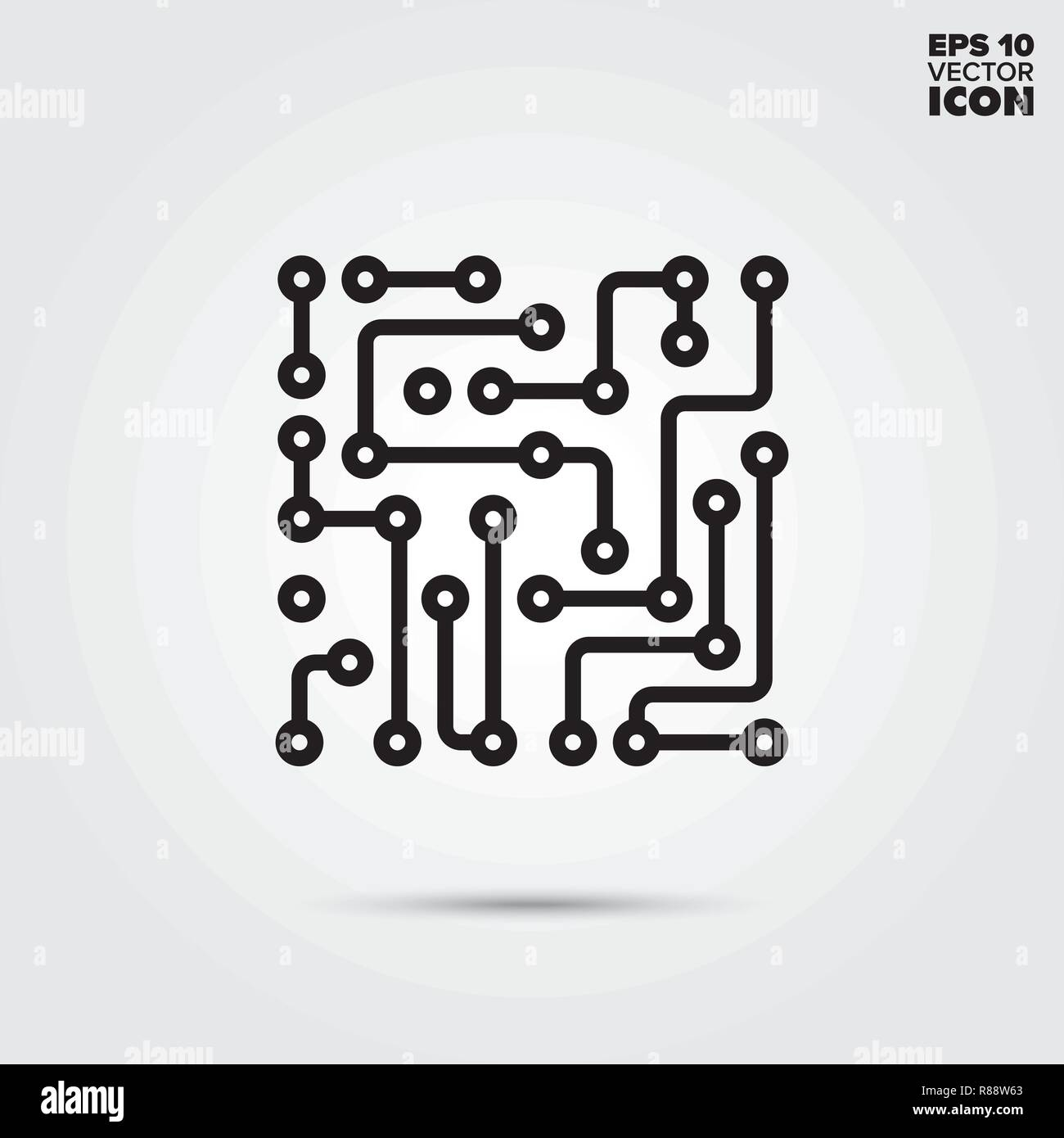 Electronic Circuit Line Icon Abstract Component Vector Symbols A That Symbol