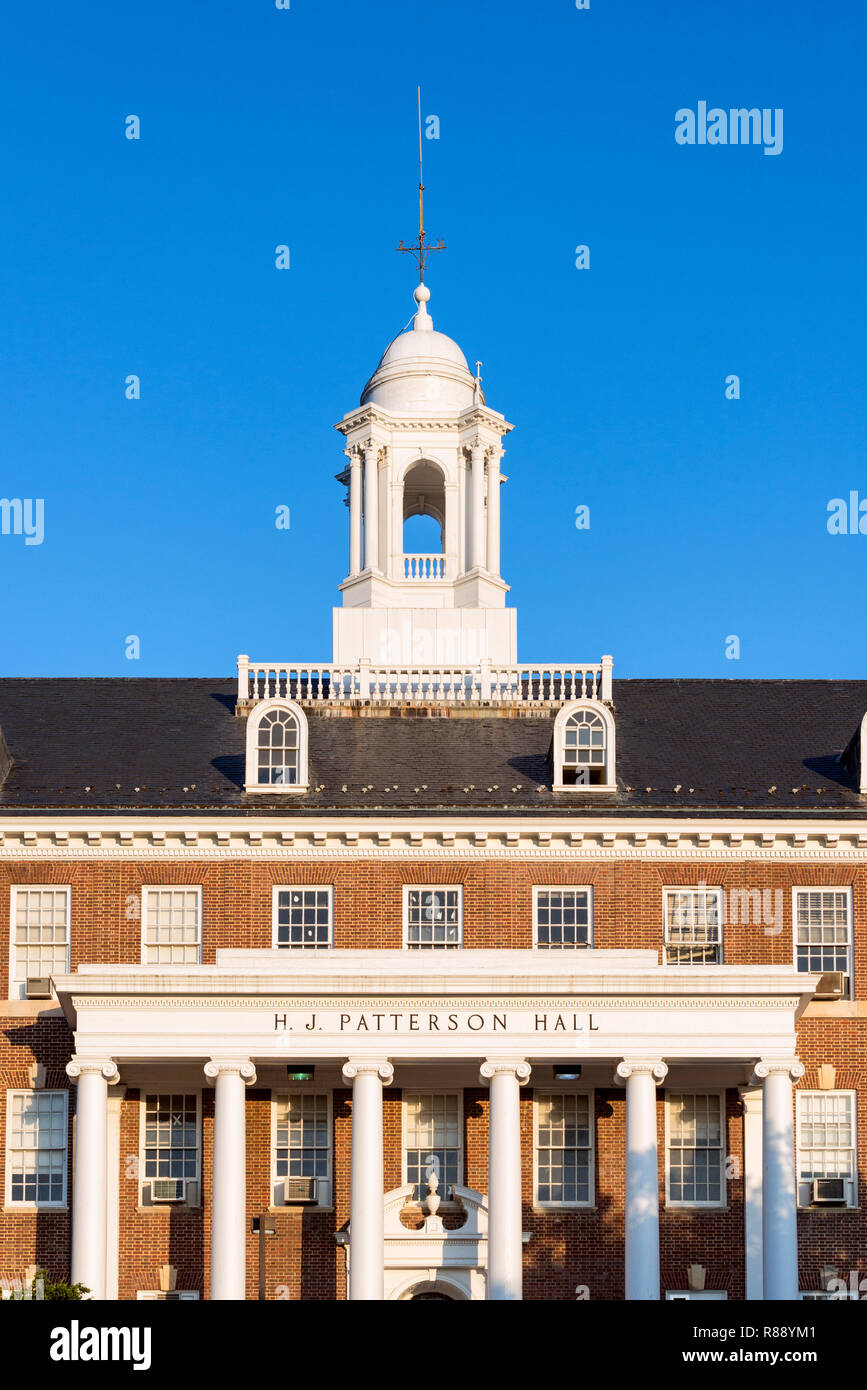 Patterson Hall at the University of Maryland, College Park, Maryland, USA. - Stock Image