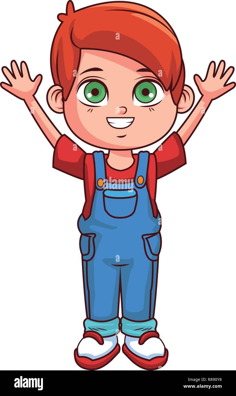 Cute Boy Cartoon Stock Vector Image Art Alamy