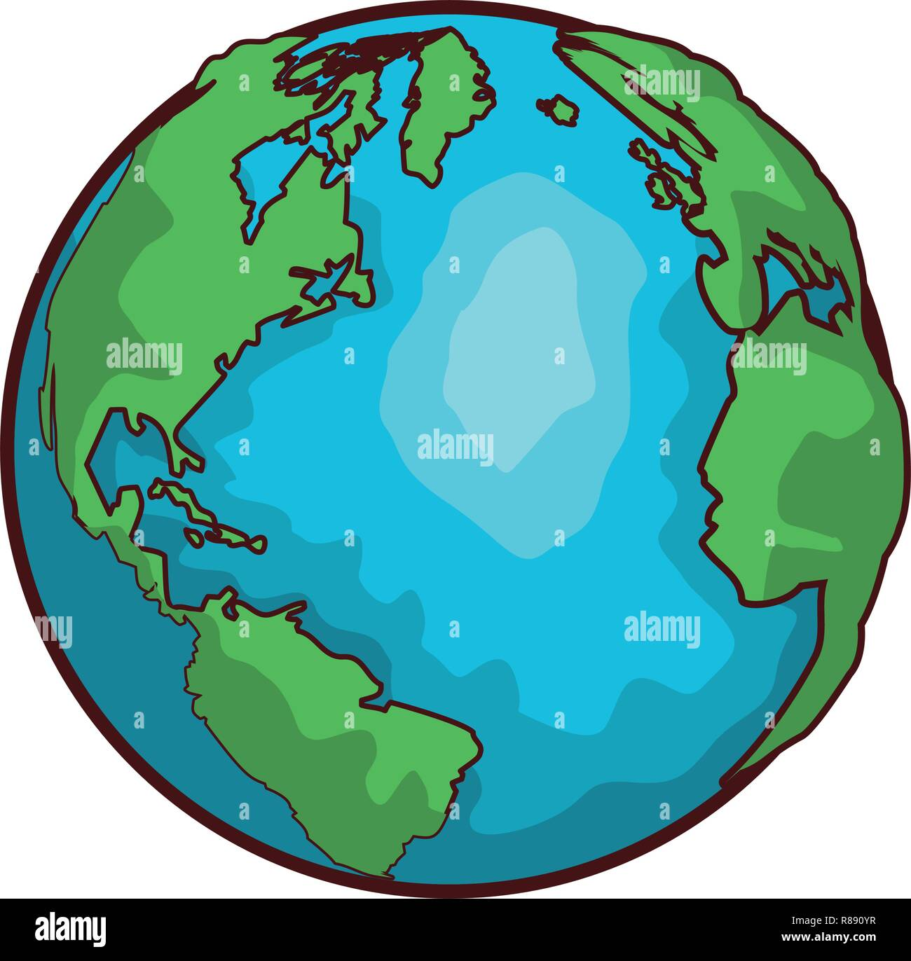 World Map Globe Cartoon Stock Vector Art Illustration Vector