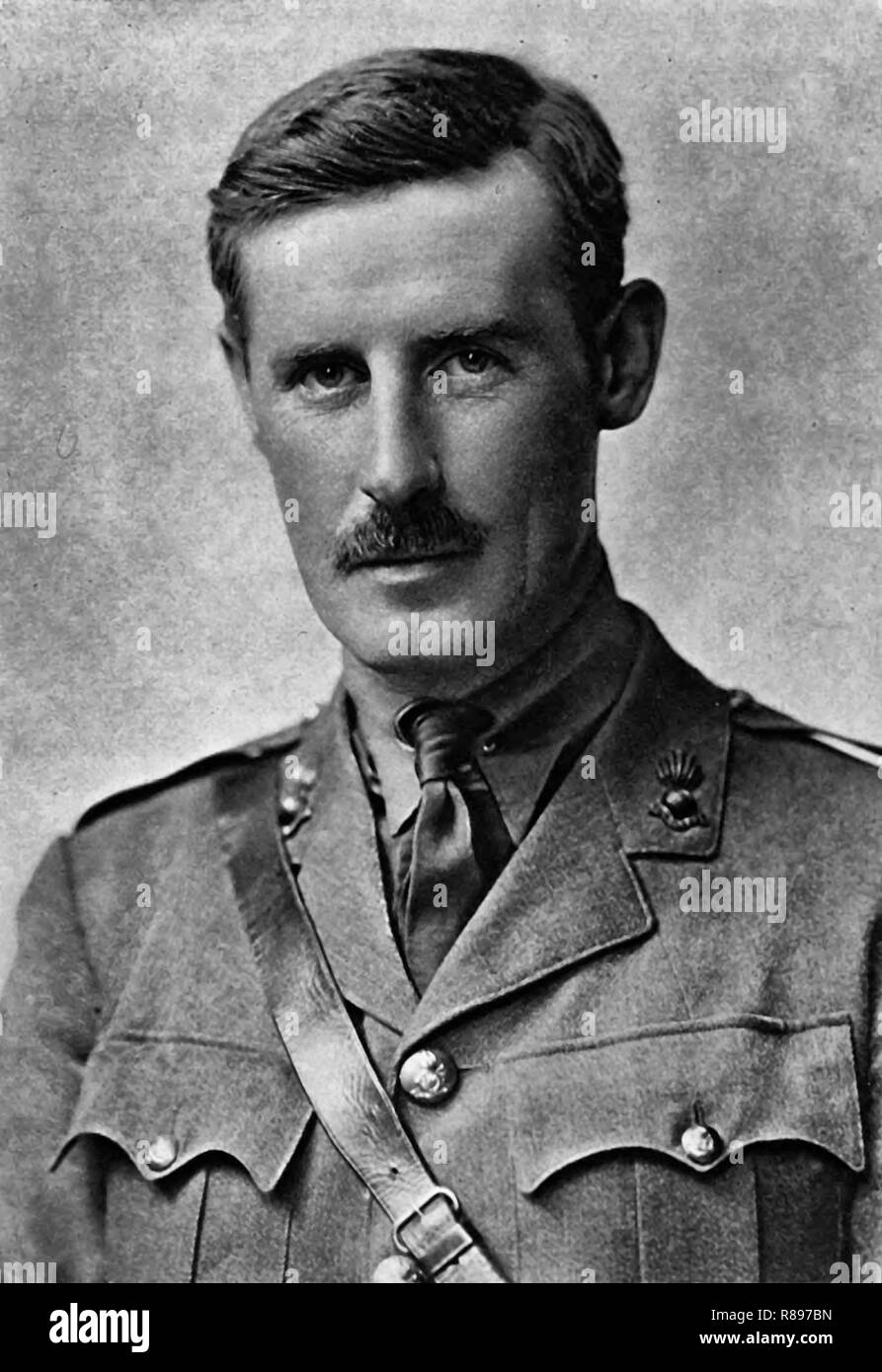 Herbert Henry Asquith, 1st Earl of Oxford and Asquith, KG, PC, KC, FRS (12 September 1852 – 15 February 1928), generally known as H. H. Asquith, was a British statesman and Liberal Party politician who served as Prime Minister of the United Kingdom from 1908 to 1916. He was the last prime minister to lead a majority Liberal government, circa 1918 - Stock Image