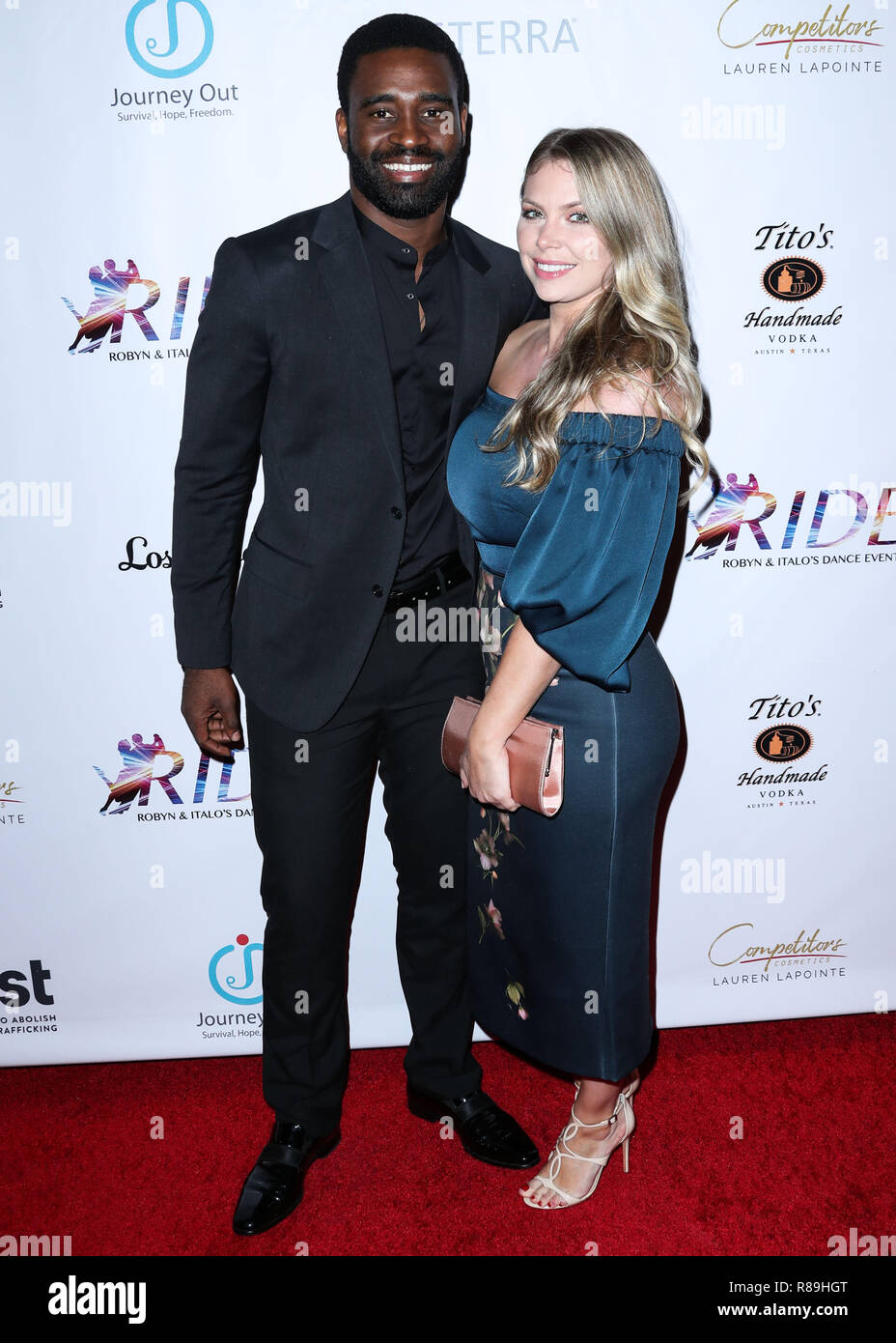 Santa Monica Los Angeles Ca Usa September 29 Keo Motsepe Evanna Lynch At The Ride Foundation S 2nd Annual Dance For Freedom Held At The Broad Stage On September 29 2018 In