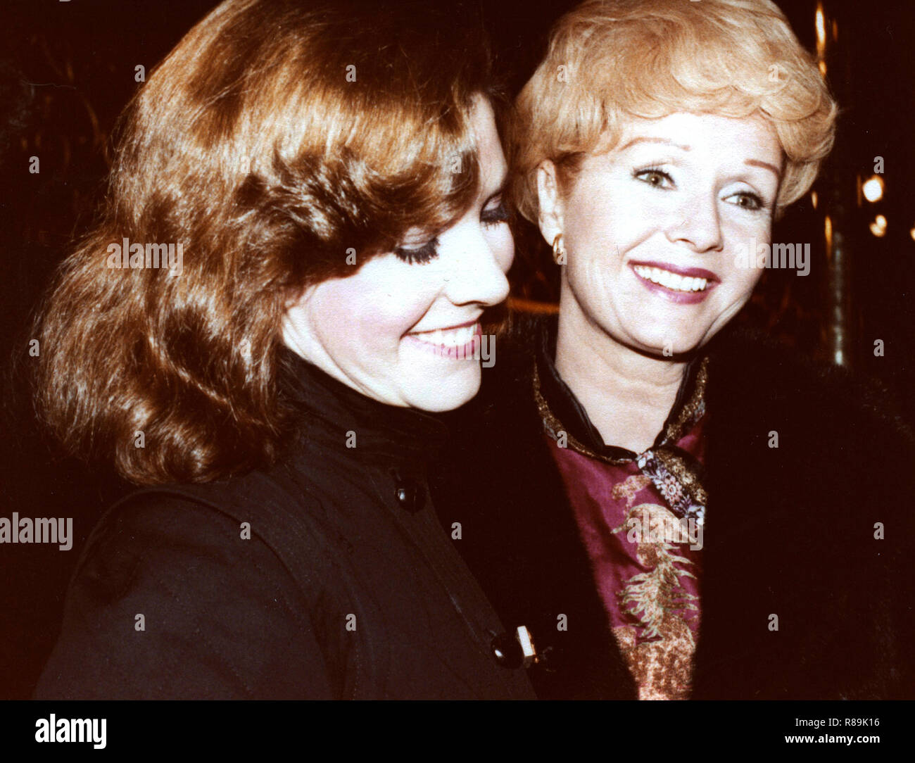 Carrie Fisher and Debbie Reynolds attend a Broadway show October 1, 1979 in New York City. Credit: Walter McBride /MediaPunch - Stock Image