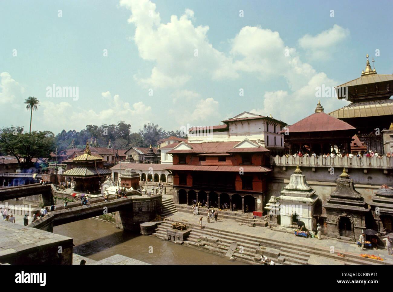 Pashupatinath Hindu Temple, Katmandu, Nepal - Stock Image