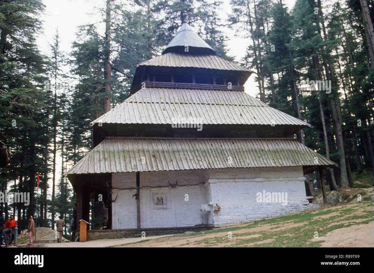 Hadimbadevi Temple, Manali, Himachal Pradesh, India - Stock Image