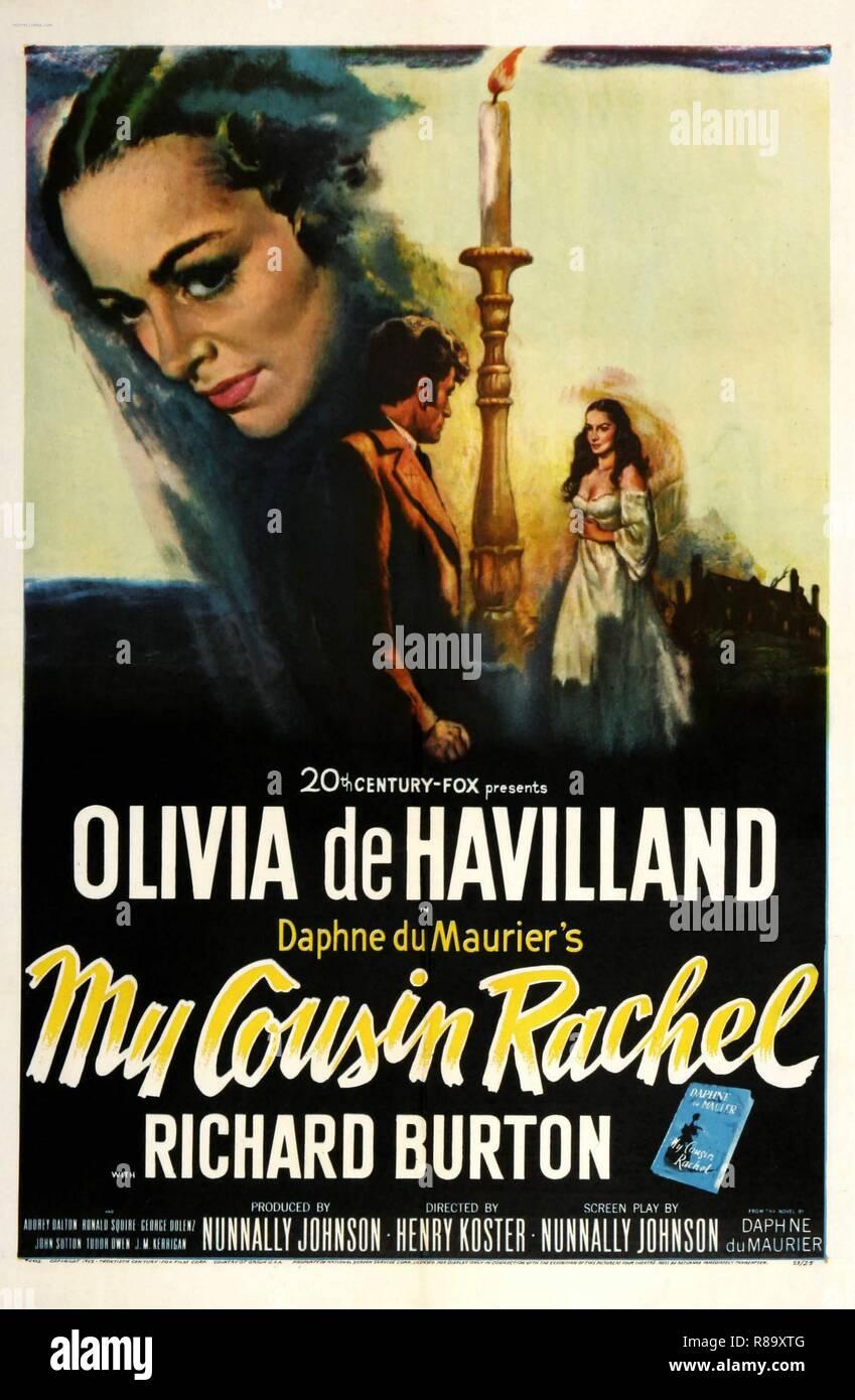 My cousin Rachel Year : 1952 USA Director : Henry Koster Olivia De Havilland Poster (USA) - Stock Image