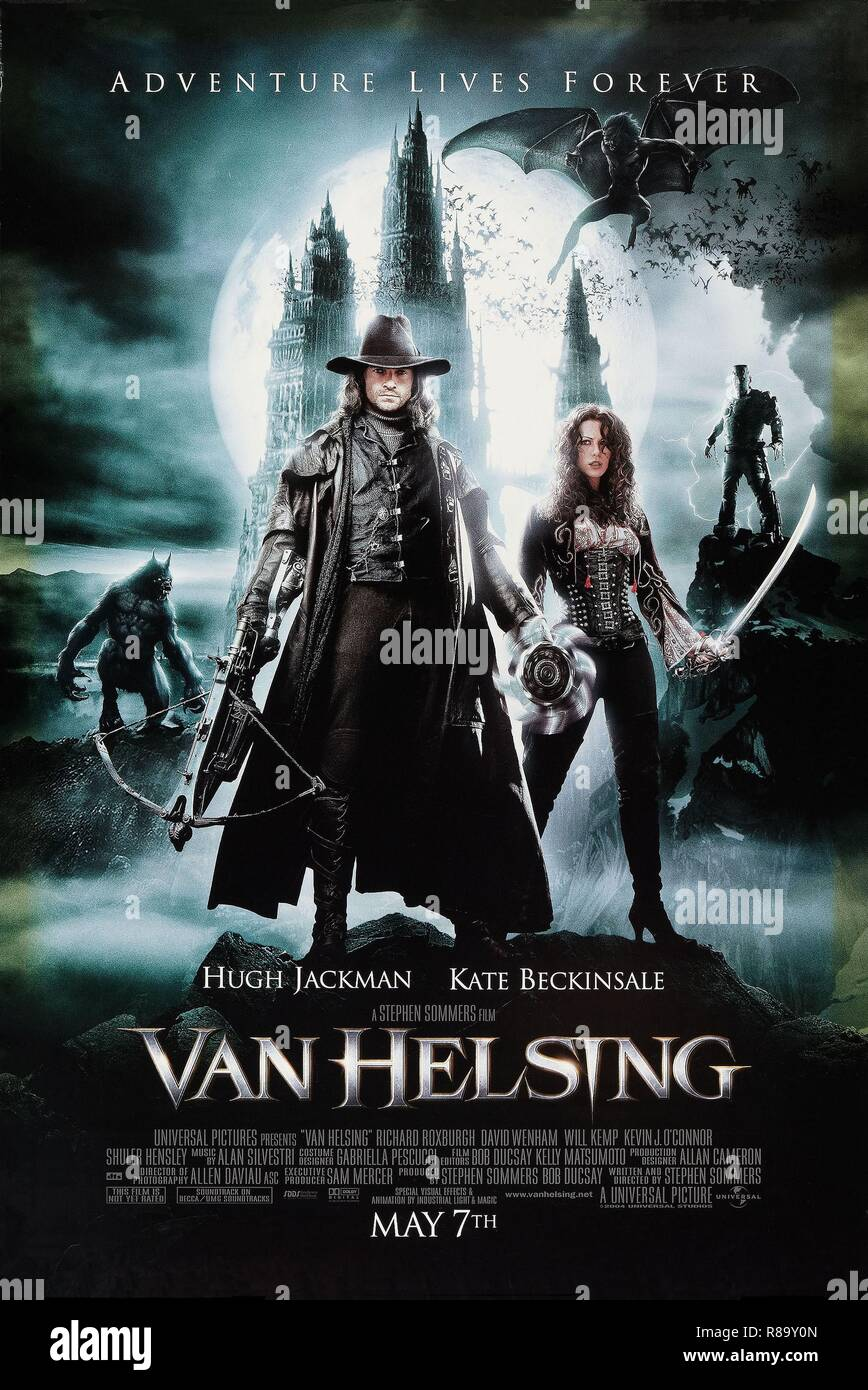 Van Helsing  Year : 2004 USA Director : Stephen Sommers Hugh Jackman, Kate Beckinsale  Poster (USA) - Stock Image