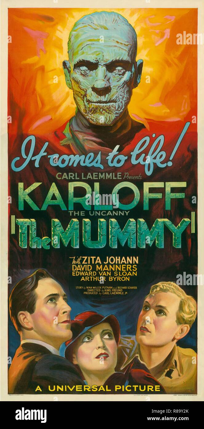 The Mummy Year : 1932 - USA Director : Karl Freund Movie poster (USA) - Stock Image
