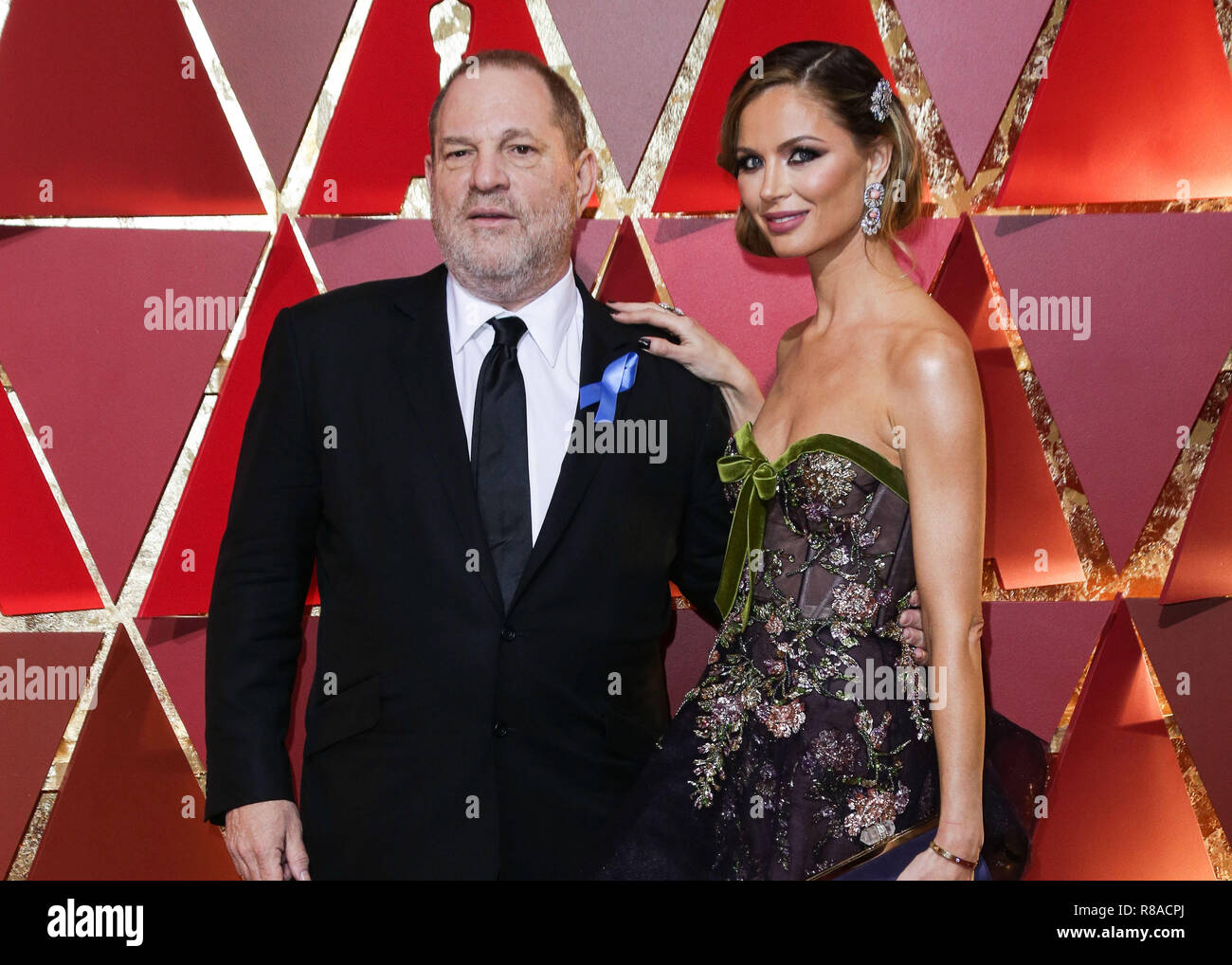 (FILE) Former NBC producer who worked on Ronan Farrow's Harvey Weinstein reporting breaks silence. A veteran NBC News producer who worked with Ronan Farrow on Farrow's explosive story on disgraced Hollywood mogul Harvey Weinstein has left the network and is speaking out, calling the network's decision not to make the story public 'a massive breach of journalistic integrity.' HOLLYWOOD, LOS ANGELES, CA, USA - FEBRUARY 26: Producer Harvey Weinstein and wife/Fashion Designer Georgina Chapman arrive at the 89th Annual Academy Awards held at the Hollywood and Highland Center on February 26, 2017 in - Stock Image