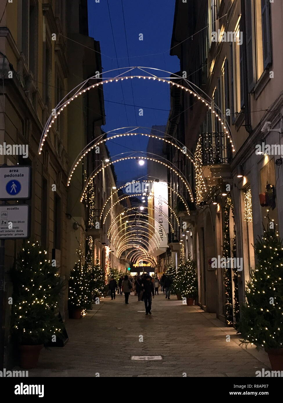 Milan Christmas Lights And Decorations In The Streets Of