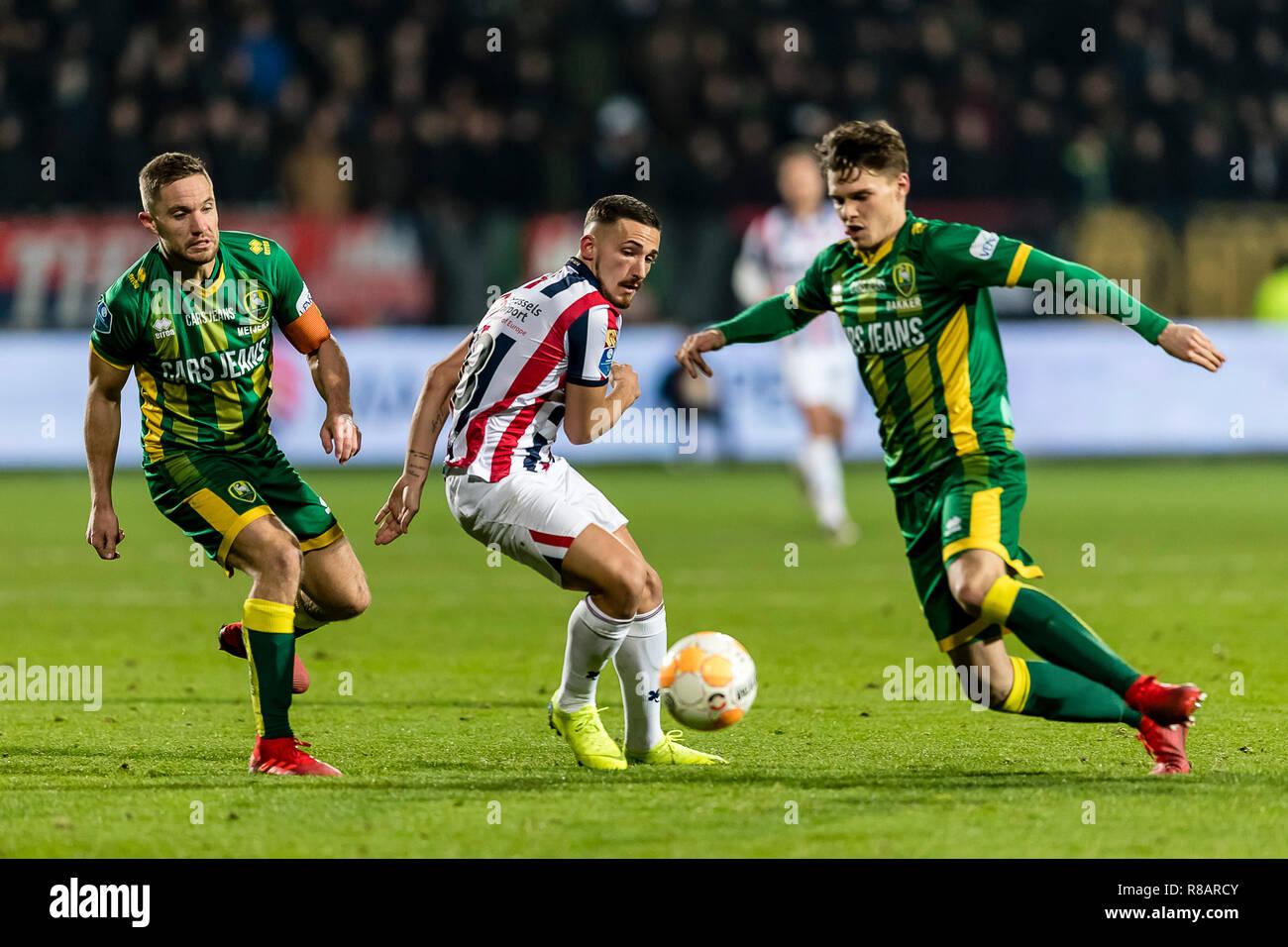 Tilburg 14 12 2018 Koning Willem Ii Stadion Dutch Football Eredivisie Season 2018 2019 Left Right
