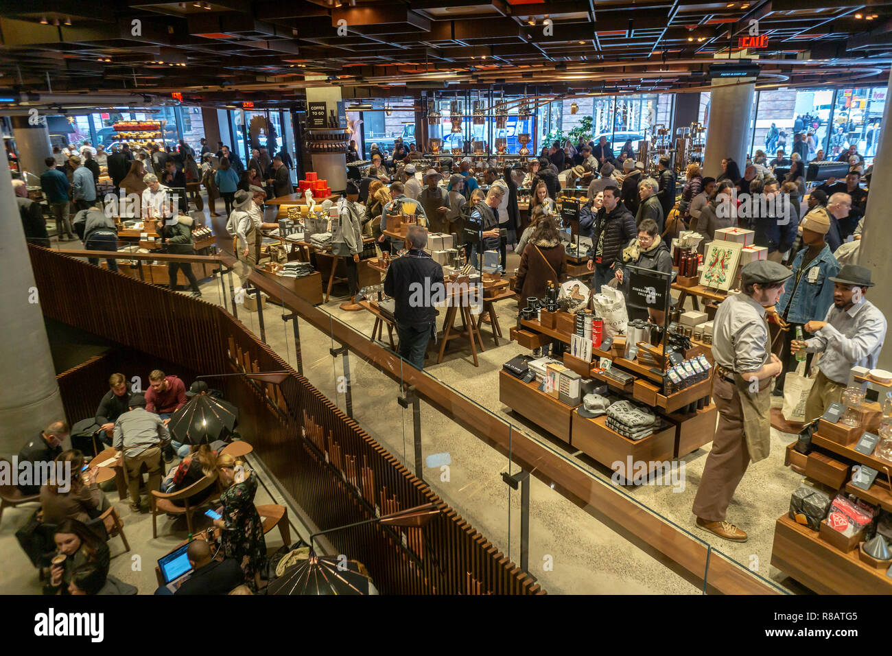 New York Usa 14th December 2018 Coffee Lovers Flock To