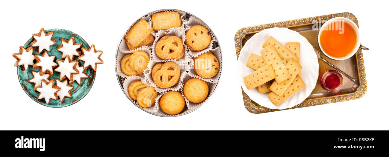 A Set Of Isolated Christmas Biscuits German Zimtsterne Cinnamon