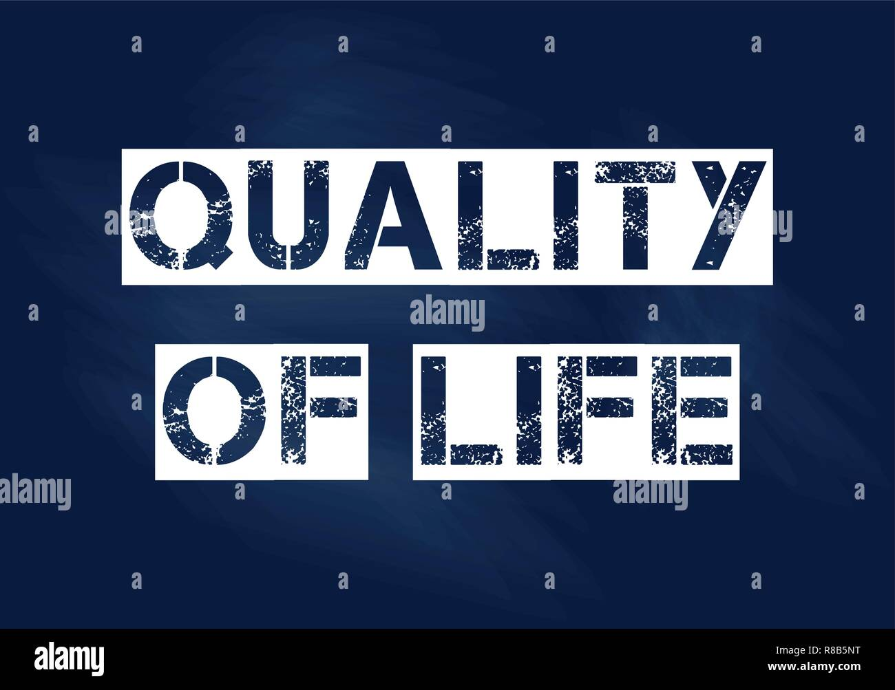 Quality of life business concept Vector illustration for design - Stock Vector