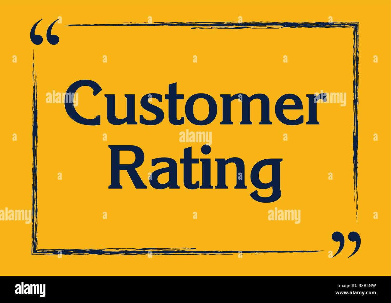 Customer rating business concept Vector illustration for design - Stock Vector
