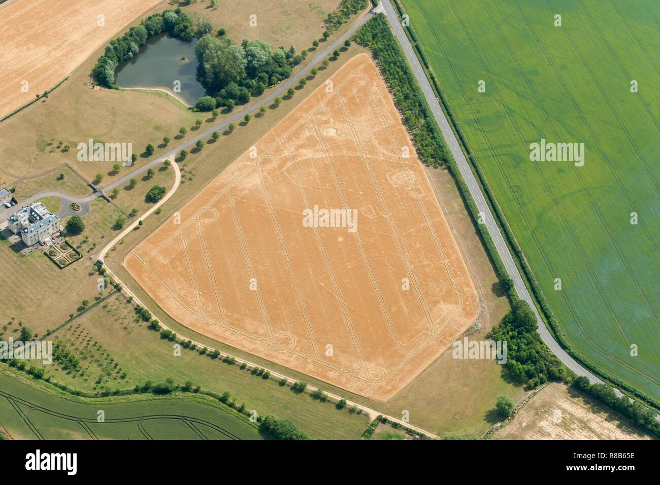 Probable Prehistoric or Roman settlement, near Eynsham, Oxfordshire, 2015. Creator: Historic England Staff Photographer. Stock Photo