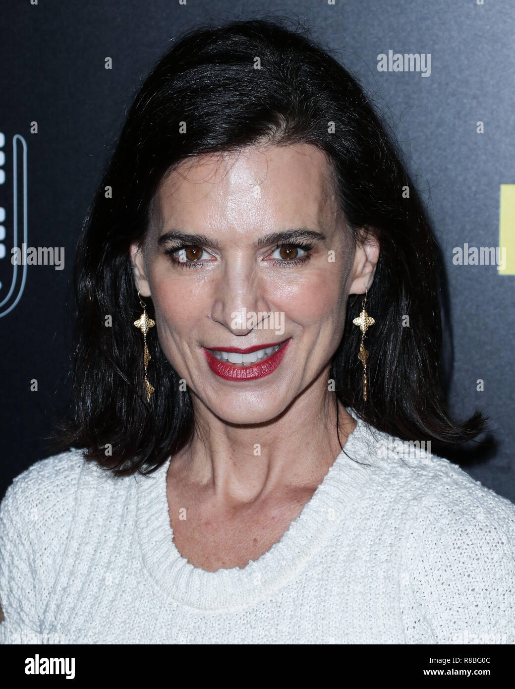 BEVERLY HILLS, LOS ANGELES, CA, USA - SEPTEMBER 19: Perrey Reeves at the Los Angeles Premiere Of Briarcliff Entertainment's 'Fahrenheit 11/9' held at the Samuel Goldwyn Theater at The Academy of Motion Picture Arts and Sciences on September 19, 2018 in Beverly Hills, Los Angeles, California, United States. (Photo by Xavier Collin/Image Press Agency) Stock Photo