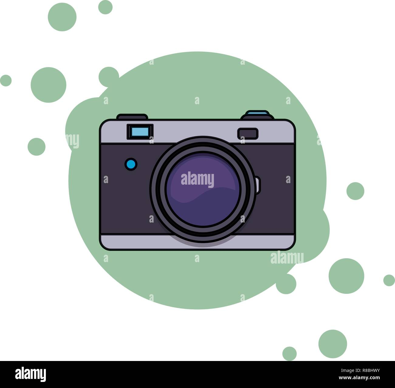 camera isolated icon - Stock Vector
